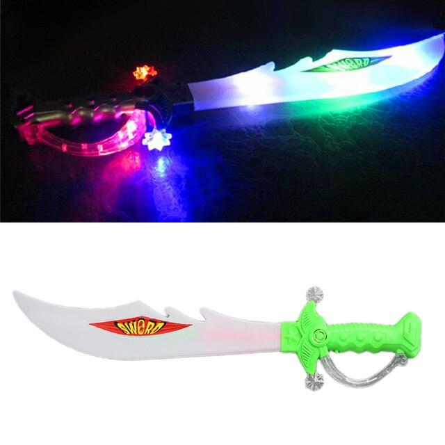 LED colorido Luz Intermitente Até Música Elétrica Som Espada Dragão Brinquedo Das Crianças