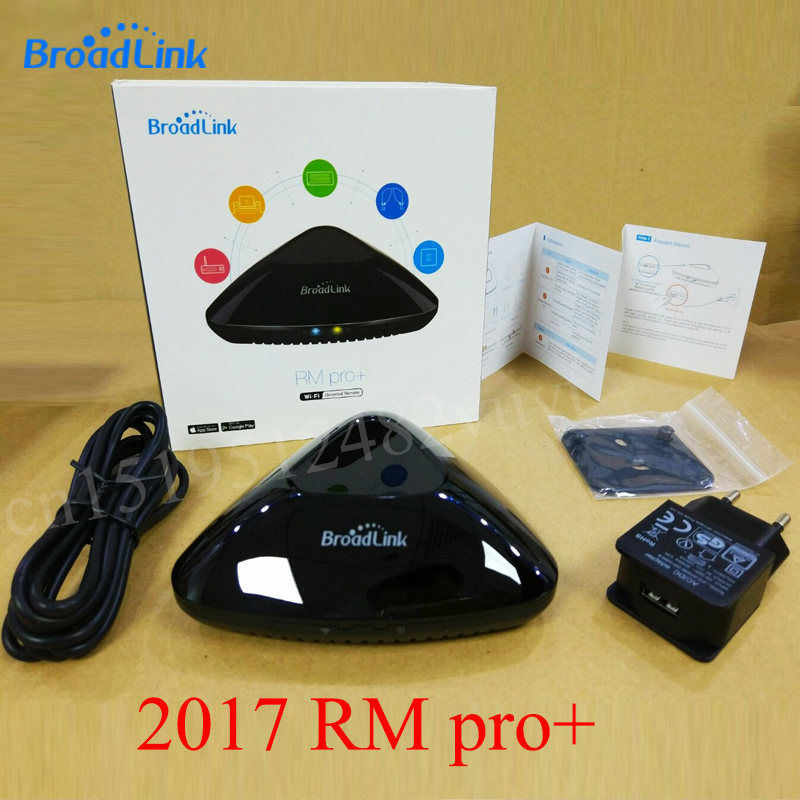 Broadlink RM PRO+  2017 Universal Intelligent Remote Controller Smart Home Automation WiFi+IR+RF Switch For IOS Android Phone new xiaolei wifi remote smart home automation wifi ir rf universal intelligent remote control for iphone ios android ltech