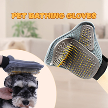 Pet Products Dog Shower Brush Double Side Bath Massage Large Hair Clean Gloves Cleaning Supplies Comb