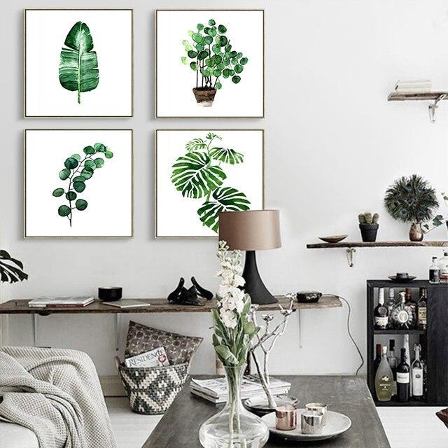 Online-Shop DIY hochwertigen Quadratischen aquarell pflanzen Poster ...