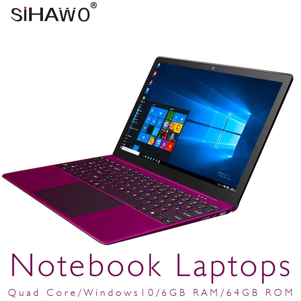 15.6 Inch Windows 10 Intel Apollo-Hồ N3450 Quad Core Laptop Với Pin 9000 mAh RAM 6 GB ROM 64 GB SSD Dual Wifi Siêu Máy Tính Xách Tay
