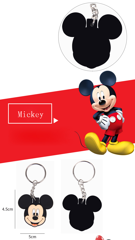 New pop Cartoon PVC Keychain Mickey Minnie Kids Keychain Key Holder Bag Pendant Charms Fans Gift Key wallet accessories (20)