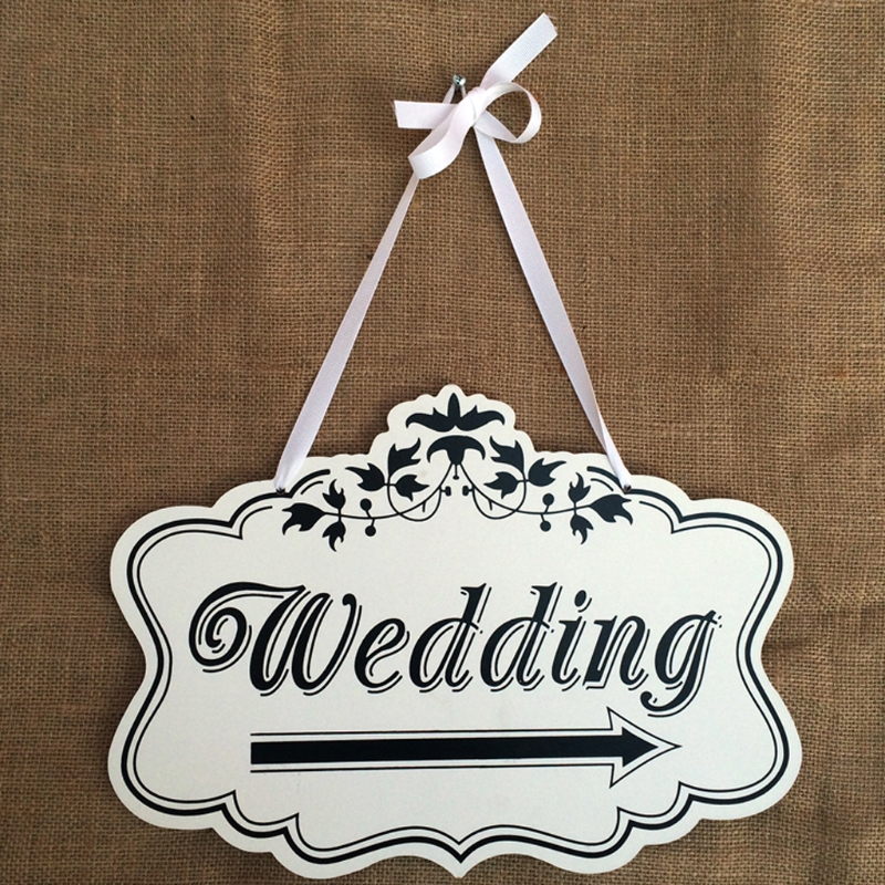 Creative Wooden Hanging Board Lace Shape Directional Signage Wedding Reception DIY Decoracion Fiestas Mariage Wedding Decor