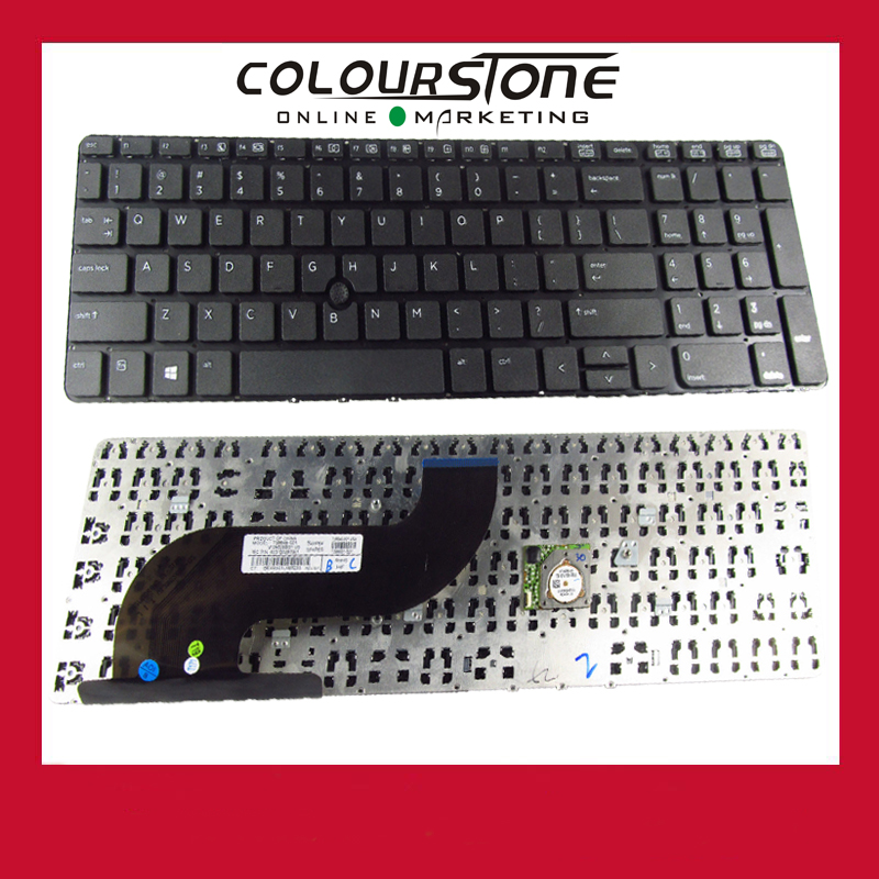 Original Install US Laptop Keyboard for HP probook 650 G1 655 G1 series keyboard with point sticker without frame 6037B0088322