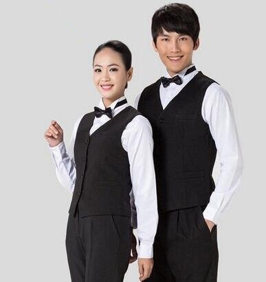 Chinese Restaurant Waiter Vest Hotel Waiter Vest Restaurant Clothing Hotel Uniform Reception Uniform
