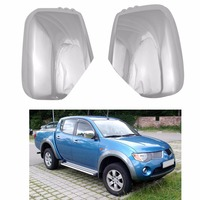 Novel style 2PCS ABS Chrome plated FOR Mitsubishi Triton L200 2005 2014 Pajero Sport 2011 door mirror covers Car modification