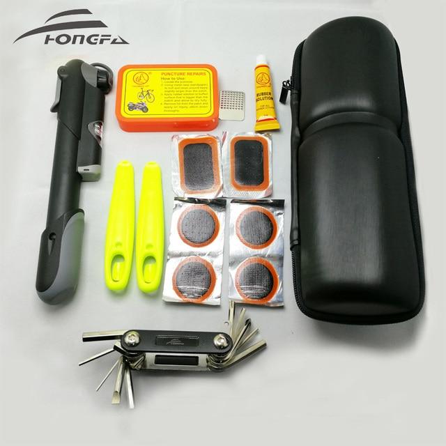 Kit di strumenti per la riparazione di pneumatici per biciclette