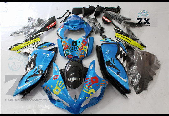 Complete Fairings For Yamaha yzf R1 2007 2008 ABS Plastic Kit Injection Motorcycle Fairing SHA