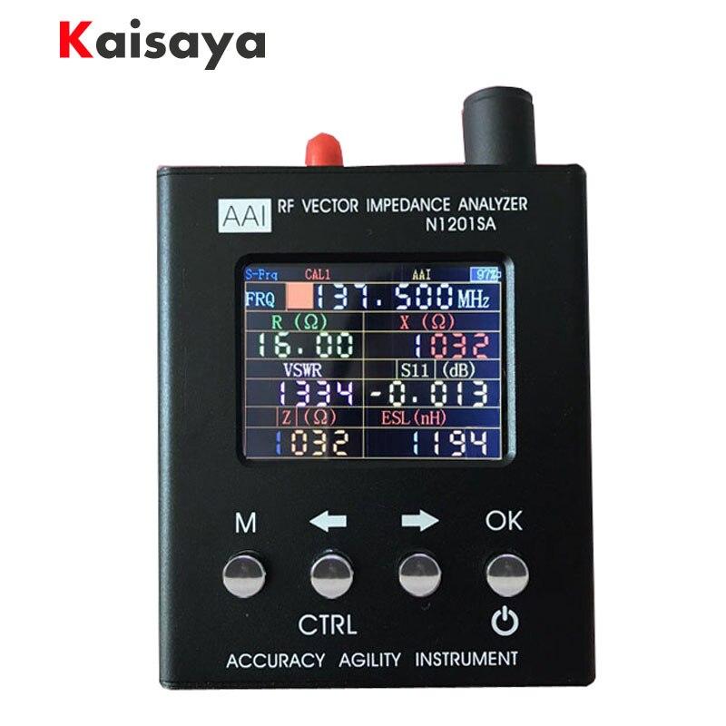 Inglês verison N1201SA 140 MHz-2.7 GHz N1201SA + 35 MHz-UV 2.7G RF Vector Impedância FORMIGA medidor de SWR Antenna Analyzer Tester D1-005