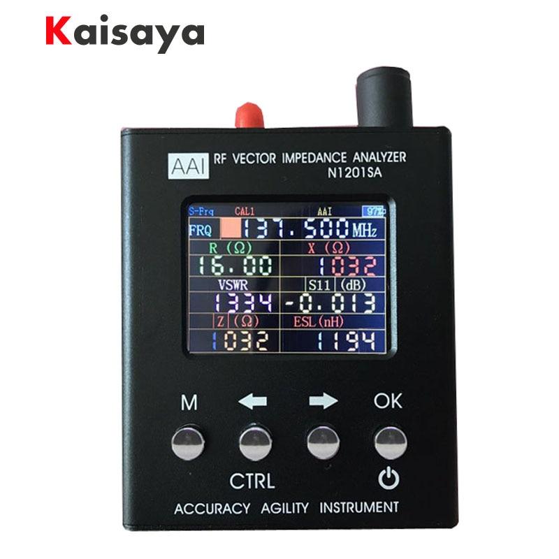 Nuovo Inglese verison N1201SA 140 mhz-2.7 ghz UV RF Vector Impedenza ANT SWR Antenna Analyzer Tester del tester 140 mhz-2.7 ghz D1-005