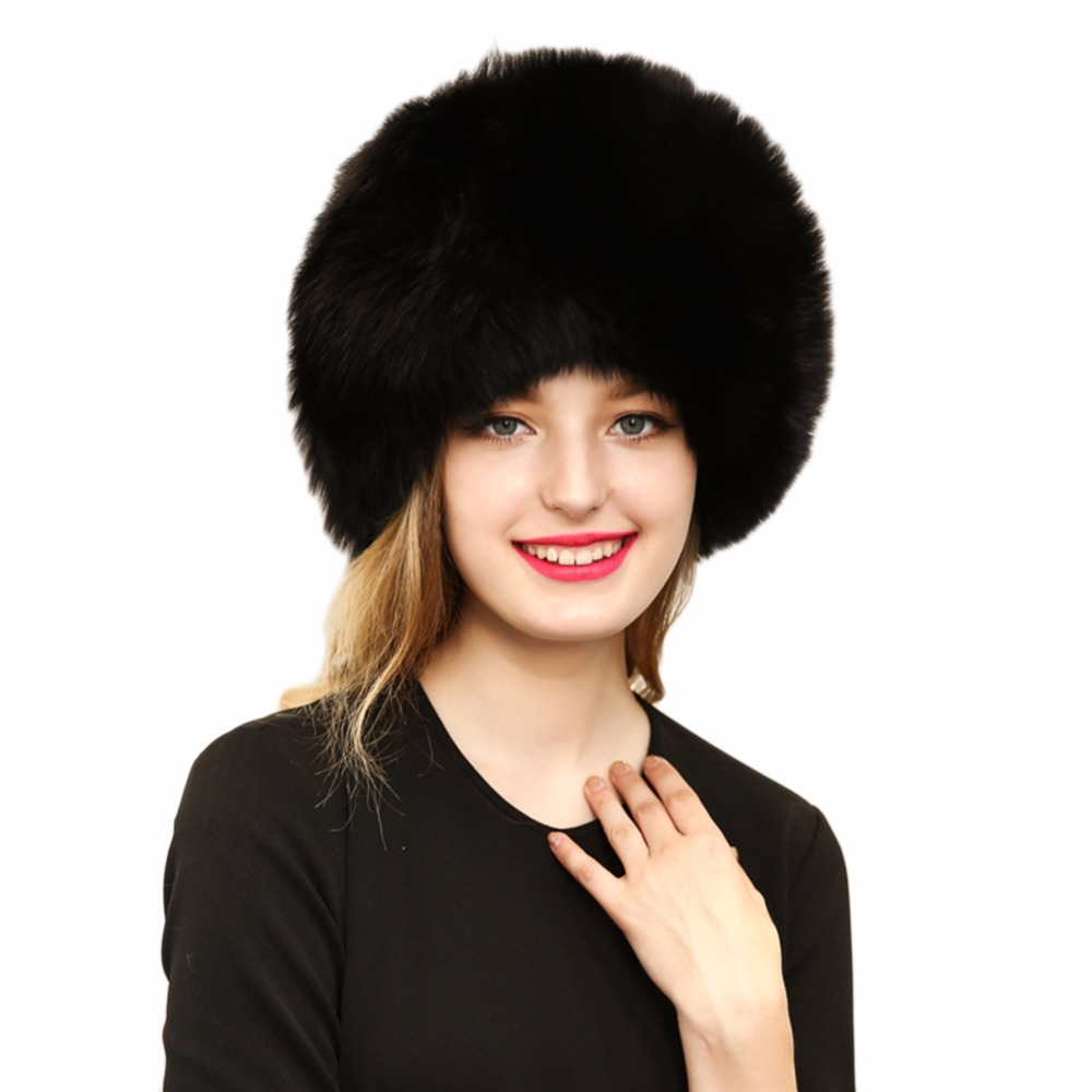 Fashion Women Winter Solid Faux Leather Fur Cap Warm Hat Lady Ms. Knitted Hat