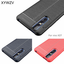 For Vivo X27 Pro Case Luxury PU leather Rubber Soft Silicone Phone Cover Fundas