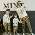 Mother Daughter Family Clothes Set Leopard Fashion  Mum Son Family Matching Clothes Autumn  Clothing Sets Parent-Child Clothing