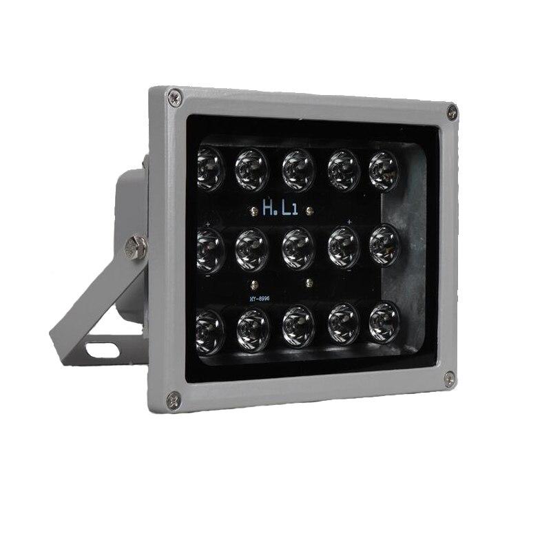 100 m IR distance 15 LED s IR illuminateurs IR lumière infrarouge LED caméra de vidéosurveillance vision nocturne IR lumière de remplissage pour caméra de sécurité CCTV