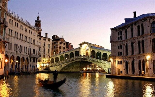 6 stks led verlichting Venetië zonsondergang lichten canvas ...