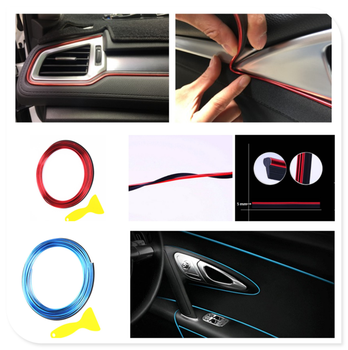 Car shape decorative strip door panel gap instrument modification line for BMW E34 F10 F20 E92 E38 E91 E53 E70 X5 M M3 image