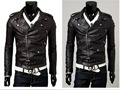 Free PP! Mens leather jacket hot leather coat large biker racer PU leather men fashion jacket larger