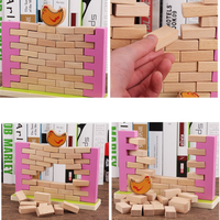 New Entertainment Toy Pine Wooden Tower Wood Building Blocks Toy Domino 48pcs Stacker Extract Educational Jenga Game Gift