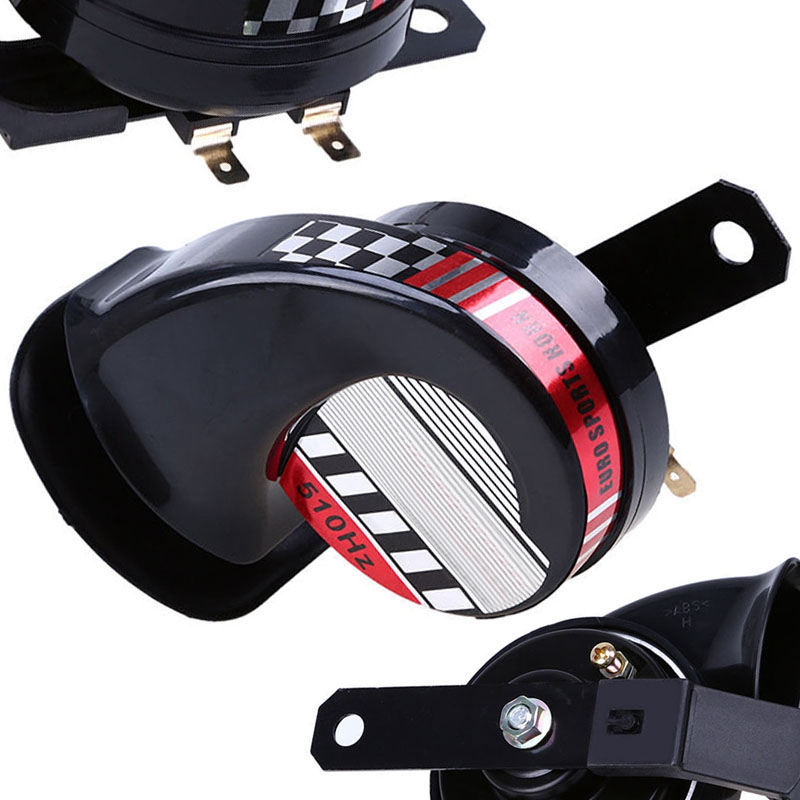 Mayitr New Compact Motorcycle Horn Waterproof Car ATV 12V 510Hz 110dB Loud Snail Speaker Sound Air Horn