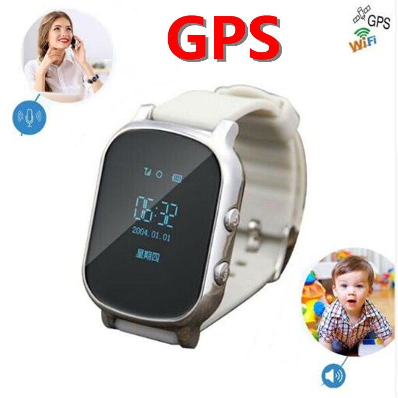 Schermo OLED T58 Astuto di GPS WIFI Inseguitore Locator Anti-Perso Vigilanza per il Capretto Anziano Bambino Studente Smartwatch con SOS monitor remoto