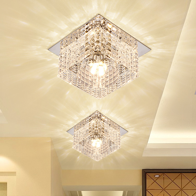 Moderne Kristall Glas Led Deckenleuchte Flur Wohnzimmer Foyer Decke  Montiert/Einbau Lampe 3 Watt 5 Watt Dia100mm Decke Lampe