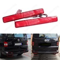 2 Transporter T5 03-10 Multivan Red Rear Bumper Reflector LED Tail Stop Light(CA243)