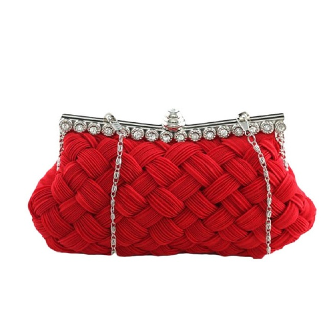 Naivety New Luxury Women Satin Evening Party Handbag Socialite Casual Clutch Bag JUL1 drop shipping
