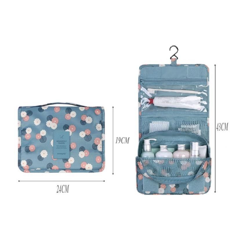 Hanging Toiletry Kit Clear Travel Storage Bag Cosmetic Carry Toiletry Pockets For Womens Wash Bag Traveling Wall Storage-in Storage Bags from Home & Garden