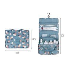 Trousse de toilette suspendue sac de rangement de voyage clair cosmétique porter des poches de toilette pour les femmes sac de lavage voyage stockage mural