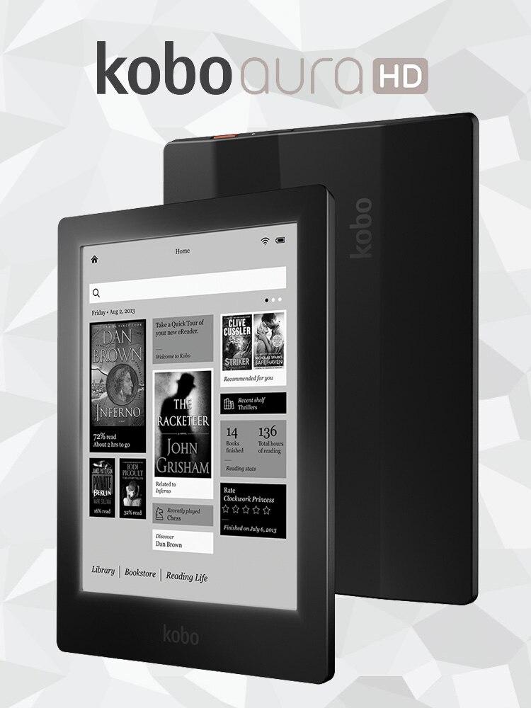FOR Kobo Aura HD Ereader 6.8 7 Inch 1440x1080 Touch Screen E Book Reader E-ink LED Front Light E Book Reader