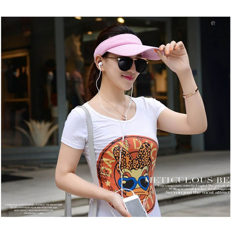 Unisex Summer Golf Tennis Hats Women Men Sports Wide Brim Beach Visor Sun Hat Caps New 7 Colors
