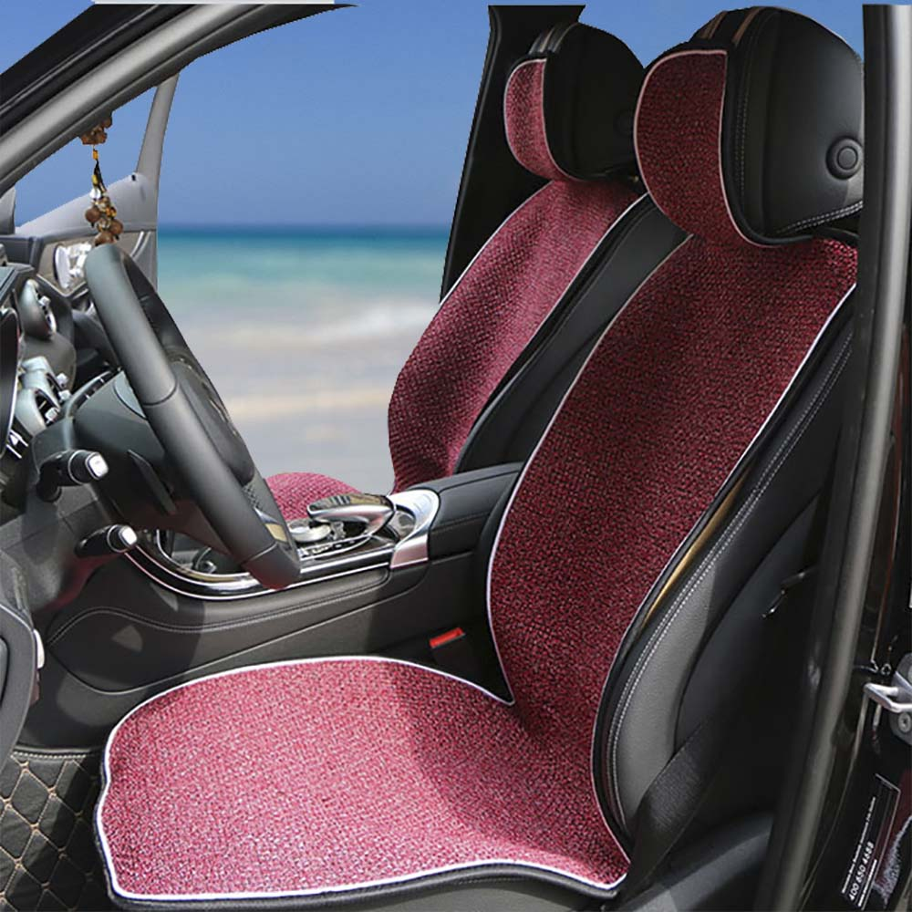 2 pc Artificial Linen Car Seat Cover Autumn and Winter new/Universal Automobiles Covers for Car Seat Cushion Cloak fit Most Cars