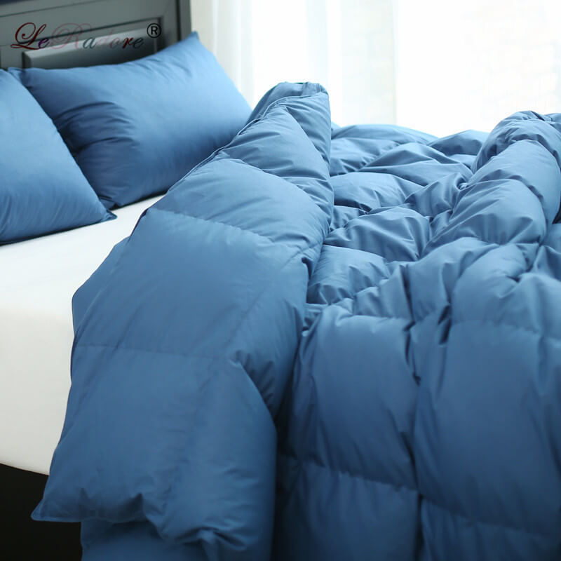 LeRadore New Two-in-one Quilt Goose Down Comforter For Four Seansons Quilted Blanket 100% Cotton Home Textiles King Queen Full