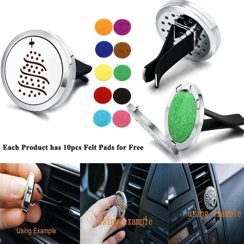 Christmas Tree Essential Oil Car Aromatherapy Diffuser Stainless