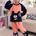 Winter Kids Pijamas Flannel Sleepwear Girls Pyjamas Coral Fleece Kids Pajamas Sets  Kids Clothes Nightwear /Homewear