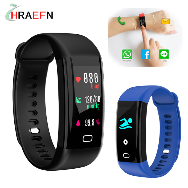 Original F07 Smart bracelet heart rate monitor Blood Pressure color oled Fitness Tracker watch for ios android PK xiaomi miband3