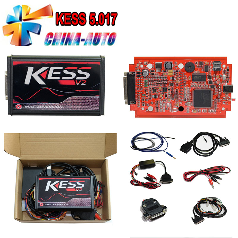 Newest KESS V5.017 Online EU Red No Token ECU Chip Tuning EU Master Online Car Truck ECU Programmer