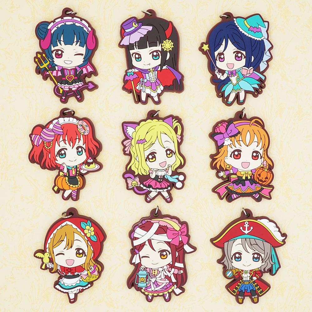 Japan Original Love Live Keychain Lovelive Sunshine Aqours Summer Swimsuit Anime Keychain Luggage & Bags