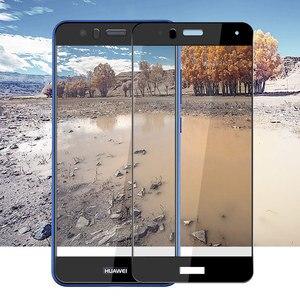 Image 3 - 2 個保護ガラス Huawei 社 p10 lite プラス強化 Glas 1080p 10 p10lite Huavei Hauwei Huawie スクリーンプロテクターオリジナルフィルム