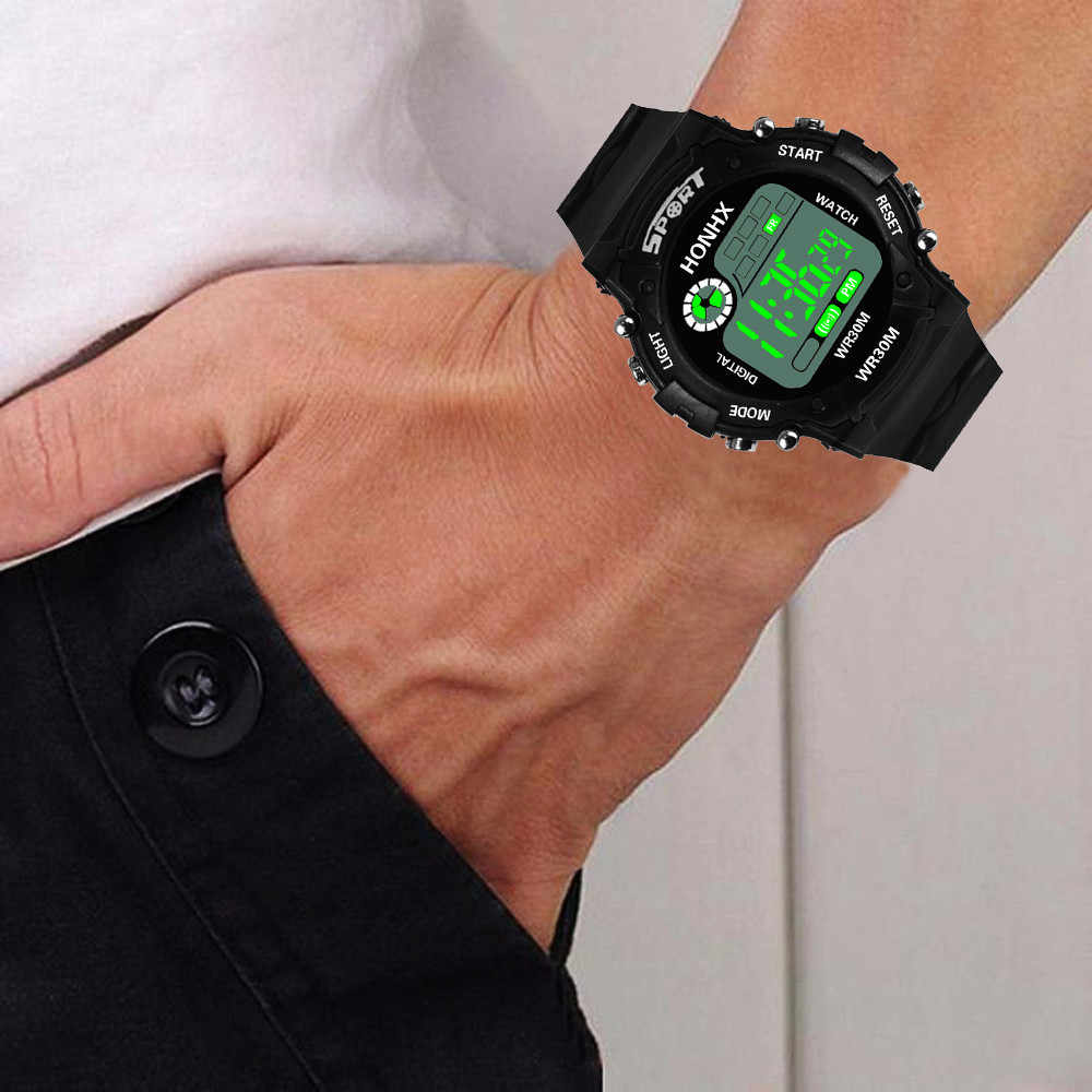 Hommes montre-bracelet mode LED analogique Quartz alarme Date sport zegarek meski reloj deportivo hombre relogio masculino numérique