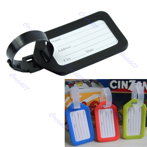 THINKTHENDO Colorful Plastic Travel Luggage Suitcase Baggage Travel bag Address Lable Tags