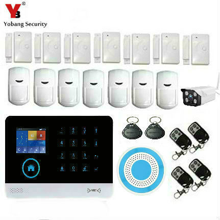 YobangSecurity WIFI GSM 3G Alarm System Security Home GSM Alarm System APP Control Fire Smoke Detector Outdoor IP Camera DIY Kit yobang security wifi gsm 3g alarm systems security home gsm alarm system app control wirelress alarm diy kit