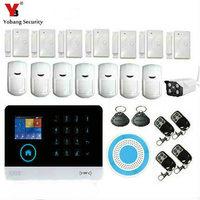Yobangsecurity WI FI gsm 3G сигнализации Системы безопасность Главная GSM сигнализация Системы приложение Управление огонь Детекторы дыма Открытый IP Ка