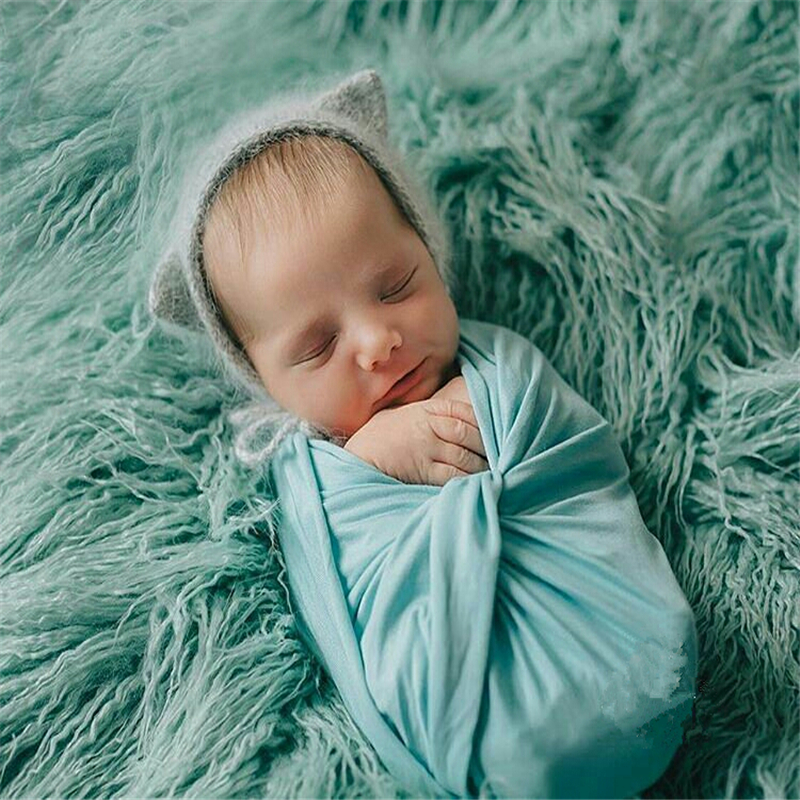 50*80CM Faux Fur Photography Props Newborn Photo Prop Faux Flokati Fur Newborn Photography Background Stuffer Newborn Basket pearl beading faux fur pocket ribbed dress
