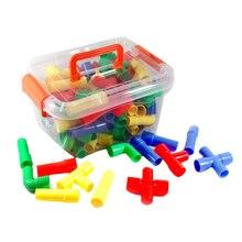 75 шт. строительные блоки для труб с 8 колесами, игрушки для детей, набор для развития воображения, обучающие игрушки для детей