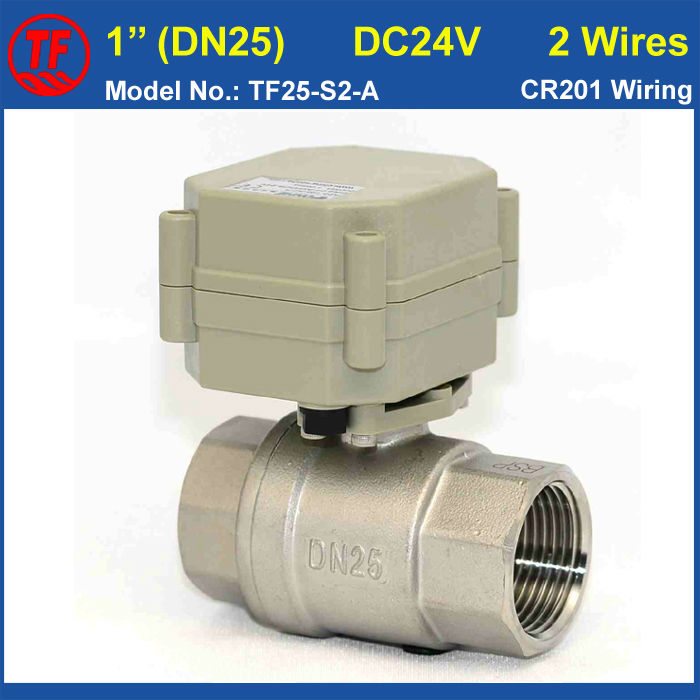 NPT BSP 1 SS304 Motorized Valve DC24V 2 Wires DN25 Electric Ball Valve Max 1 0Mpa