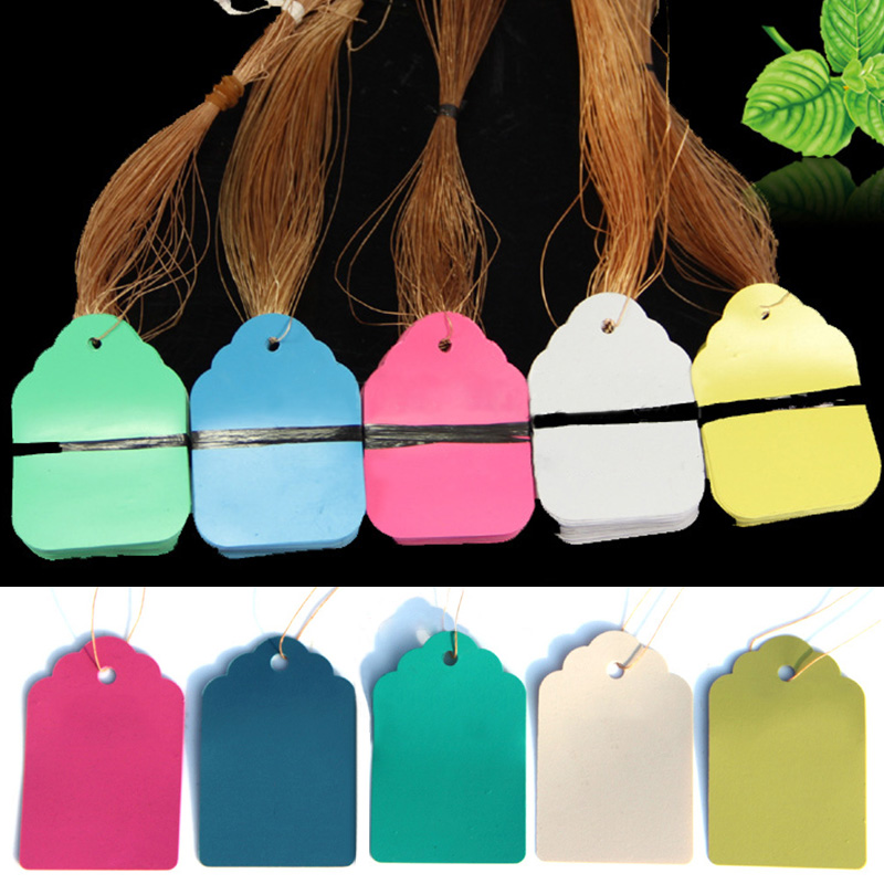 Flower Pot Marker Hanging Tags Multicolor Hang Tag Signs Waterproof Strip Line Plant Labels Garden Decoration Gardening Tool