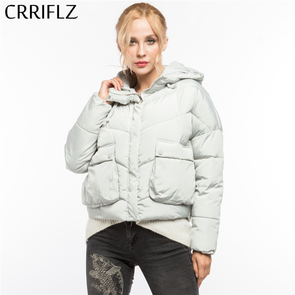 High Quality Fashion Short Warm Winter Jacket Women Hooded Coat Down Parkas Female Outerwear CRRIFLZ 2017 New Winter Collection wmwmnu 2017 winter fashion women s long hooded 90% white duck down jacket female warm coat parkas outerwear good quality coats