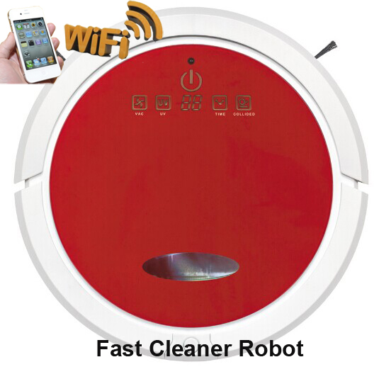 WIFI Smartphone APP Control Function Wet and Dry Vacuum Cleaner Robot With 150ml Water Tank
