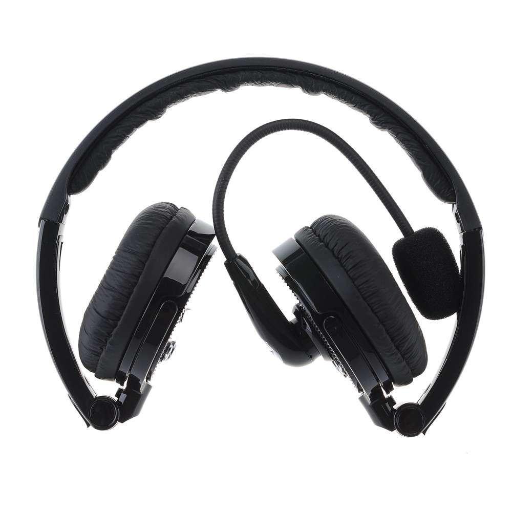 2 in 1 Over-the-Head Boom MIC Microphone Foldable Stereo Bluetooth Headset Wireless Hands-free Headphone Noise Canceling